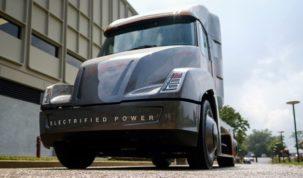 elektromos teherautó