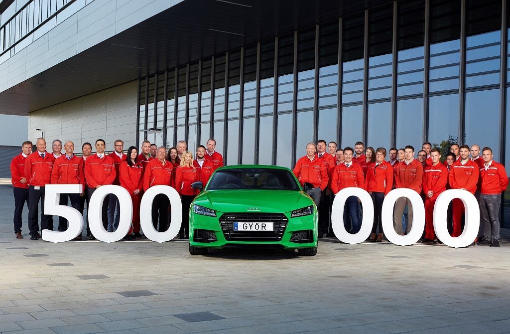 Fél millió Audi Győrből