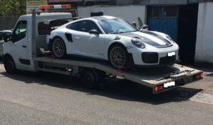 Porsche a tréleren