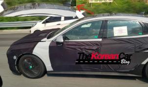 Hyundai Sonata Prototípus napelemmel a tetején